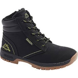 Čierna členková obuv na zips Kappa Cammy Fur K