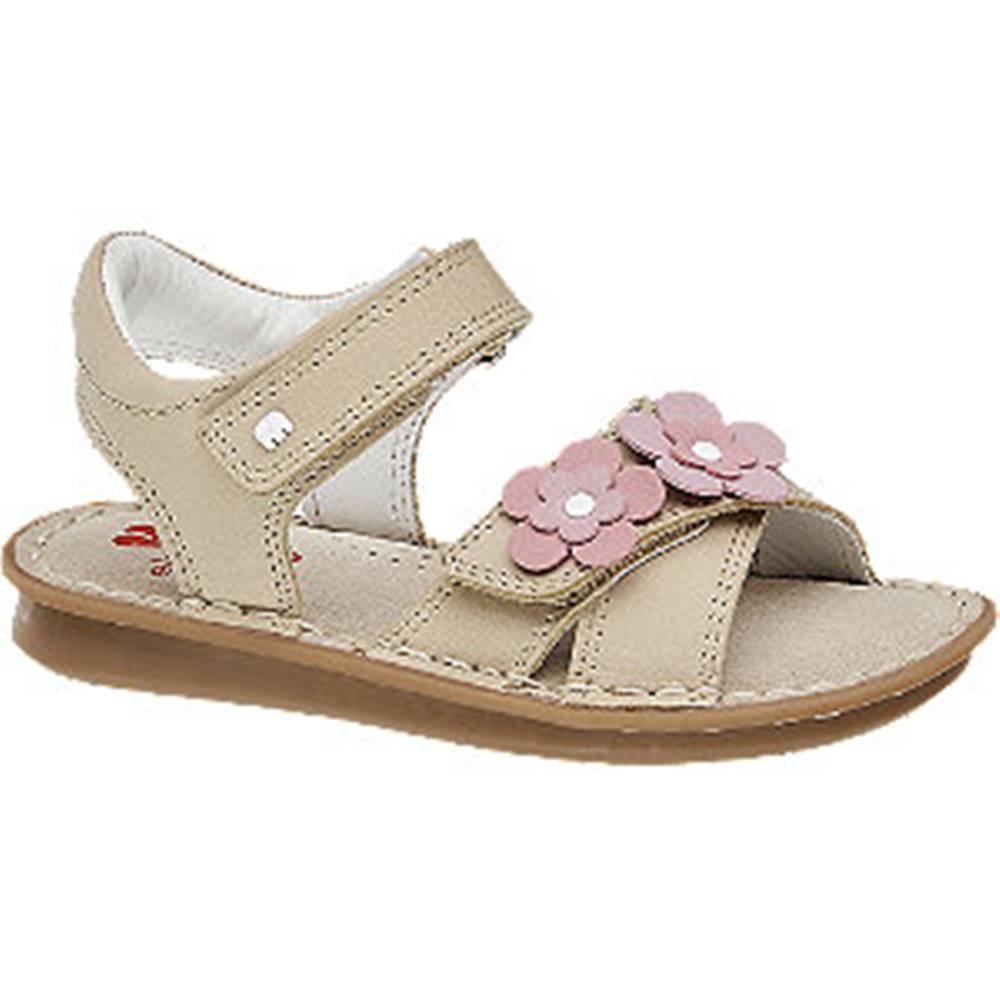 Elefanten Béžové kožené sandále Elefanten