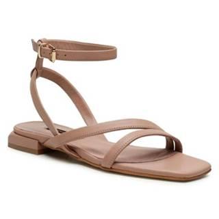 Sandále Gino Rossi 6004 Prírodná koža(useň) - Lícova