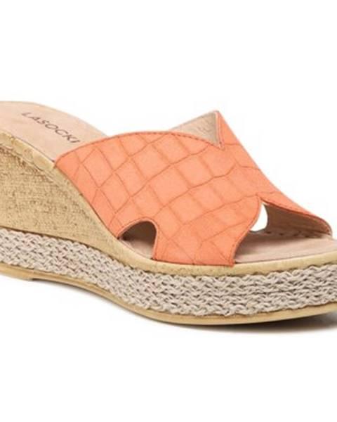 Oranžové topánky Lasocki