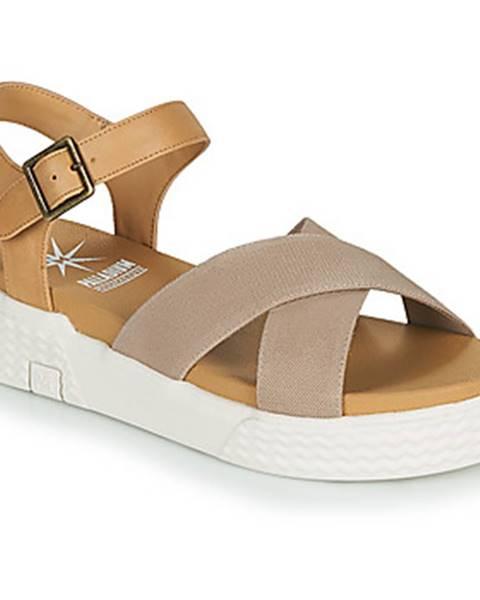 Béžové sandále Palladium Manufacture