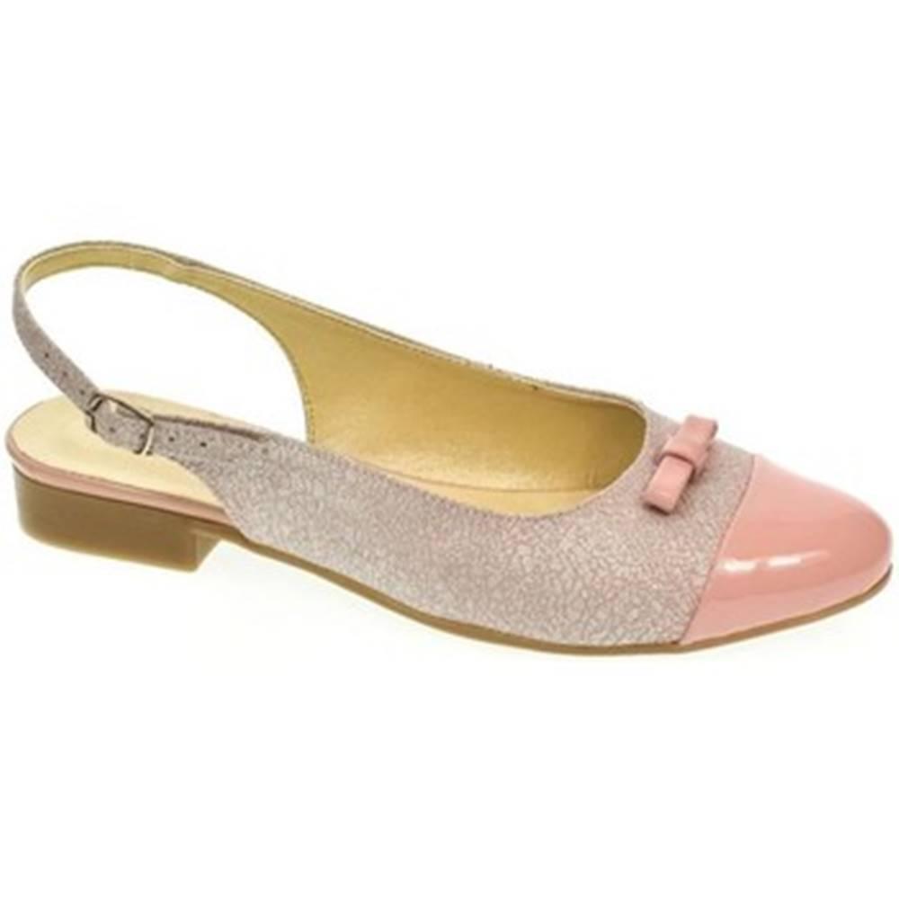 Just Mazzoni Sandále Just Mazzoni  Dámske ružovo-strieborné sandále EVELINE