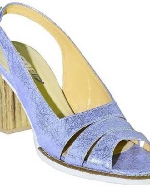 Fialové sandále Acord