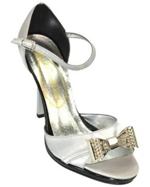 Strieborné sandále John-C