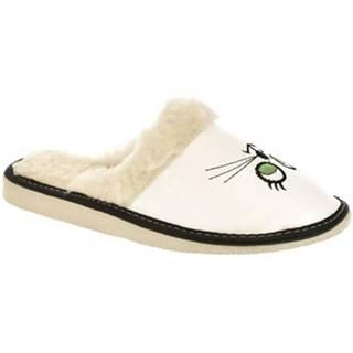 Papuče John-C  Dámske biele papuče KITT