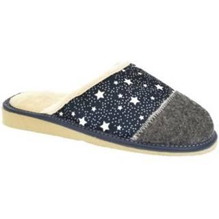 Papuče John-C  Dámske modré papuče ELINA