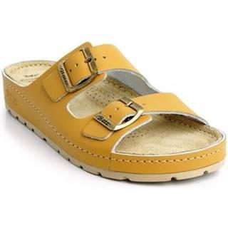 Sandále Batz  Dámske kožené hnedé šľapky ZENNA