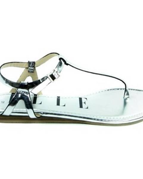 Strieborné sandále Elle Paris