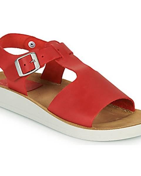 Červené sandále Kickers