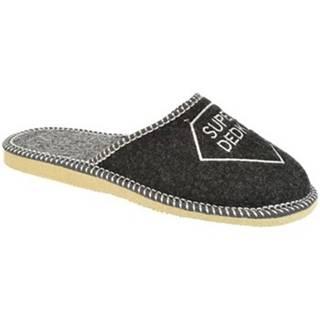 Papuče Bins  Pánske sivé papuče SUPER DEDKO