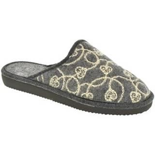 Papuče John-C  Dámske sivé papuče MILADA
