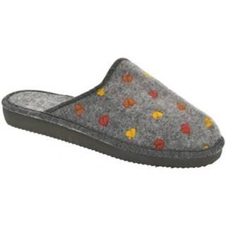 Papuče John-C  Dámske sivé papuče SANDRA