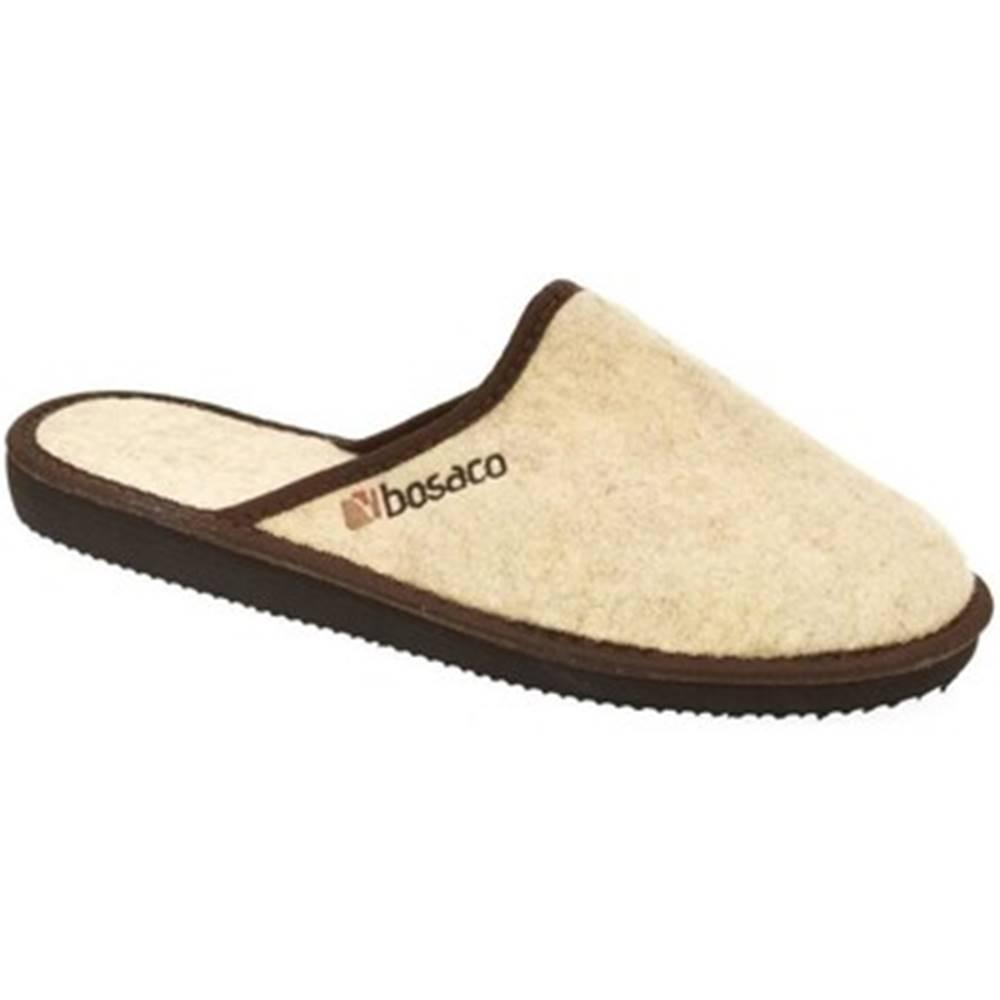 Bins Papuče Bins  Pánske béžové papuče JAROSLAV