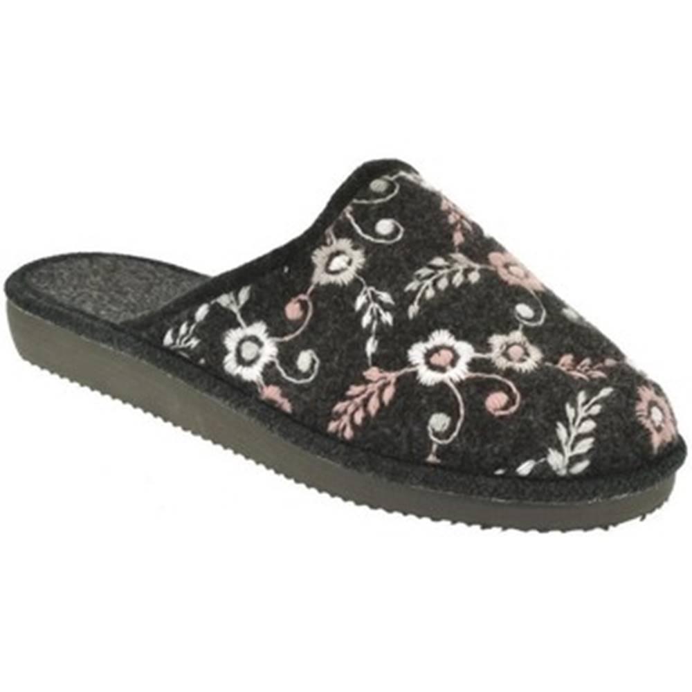 John-C Papuče John-C  Dámske čierne papuče ELEN