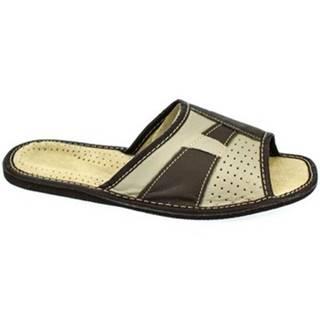 Sandále John-C  Pánske kožené papuče AMOS