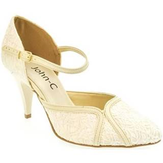 Lodičky John-C  Dámske béžové sandále EKRIA