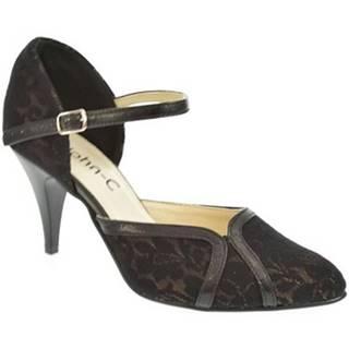 Lodičky John-C  Dámske čierno-hnedé sandále EKRIA