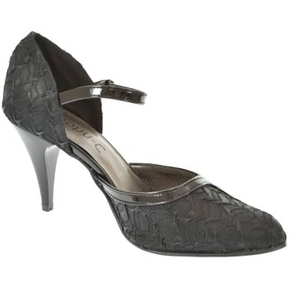 John-C Lodičky John-C  Dámske čierne sandále EKRIA