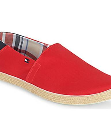Červené espadrilky Tommy Hilfiger