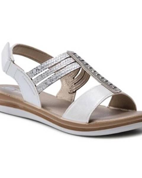Strieborné sandále INBLU
