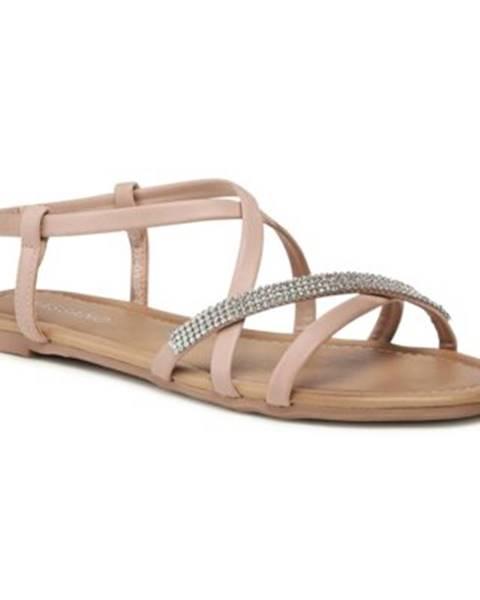 Ružové sandále Bassano