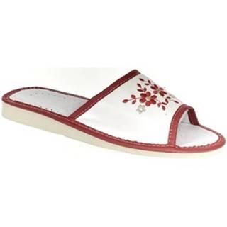 Papuče  Dámske bielo-červené papuče MALVINA