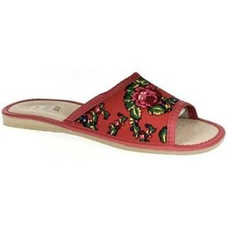 Papuče  Dámske červené papuče ALMA