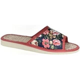 Papuče  Dámske červené papuče ROSSY