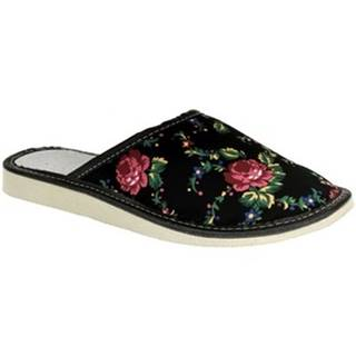Papuče  Dámske čierne papuče MILLA