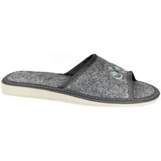 Papuče John-C  Dámske sivé papuče KITT