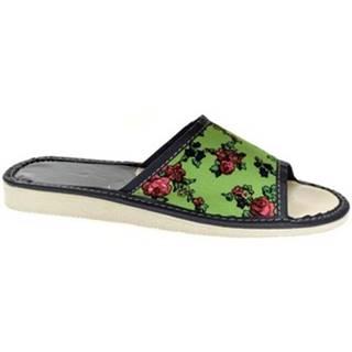 Papuče John-C  Dámske zelené papuče DAWA