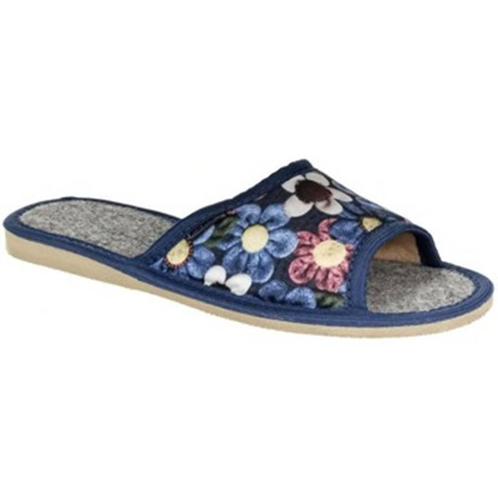 John-C Papuče  Dámske tmavo-modré papuče ALLA