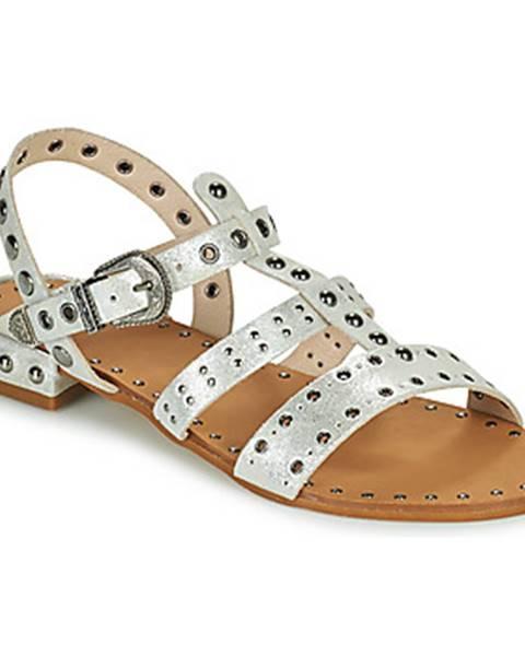Strieborné sandále Ikks