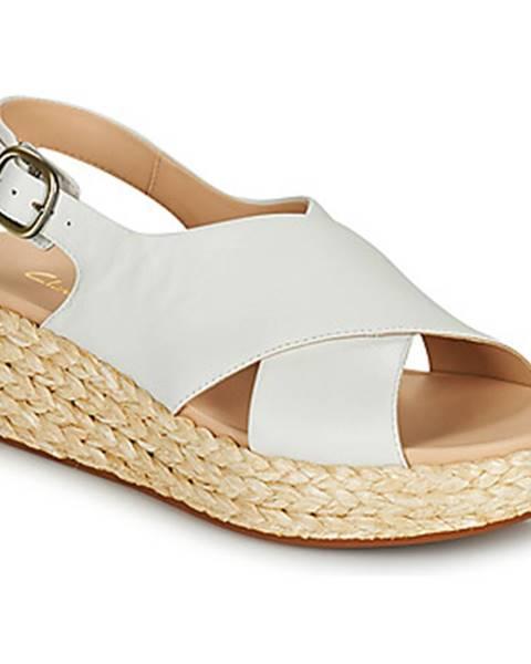 Biele sandále Clarks