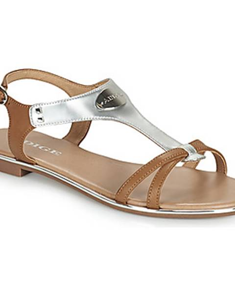Strieborné sandále Adige