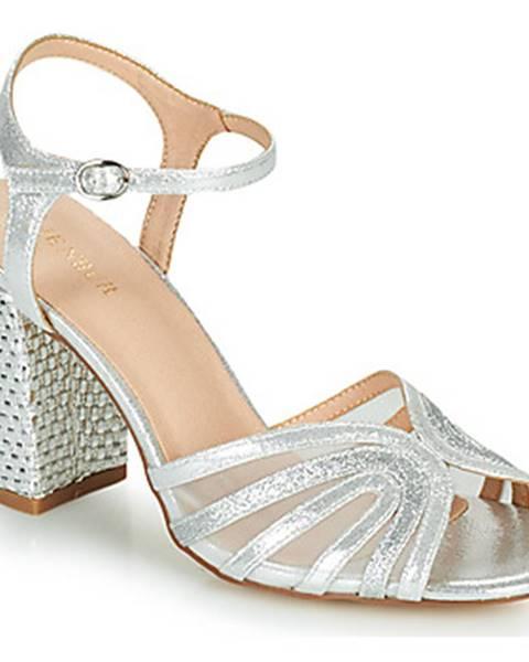 Strieborné sandále Menbur