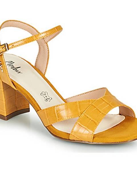 Žlté sandále Menbur