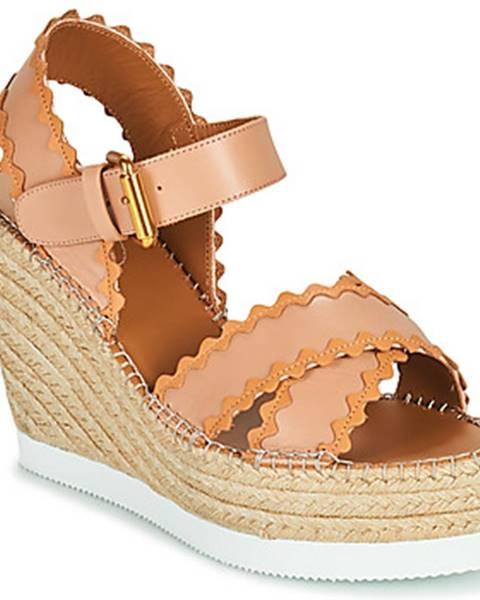 Béžové sandále See by Chloé