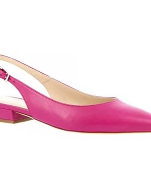 Ružové balerínky Leonardo Shoes