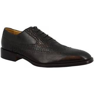 Richelieu Leonardo Shoes  ORBETELLO PITONE NERO