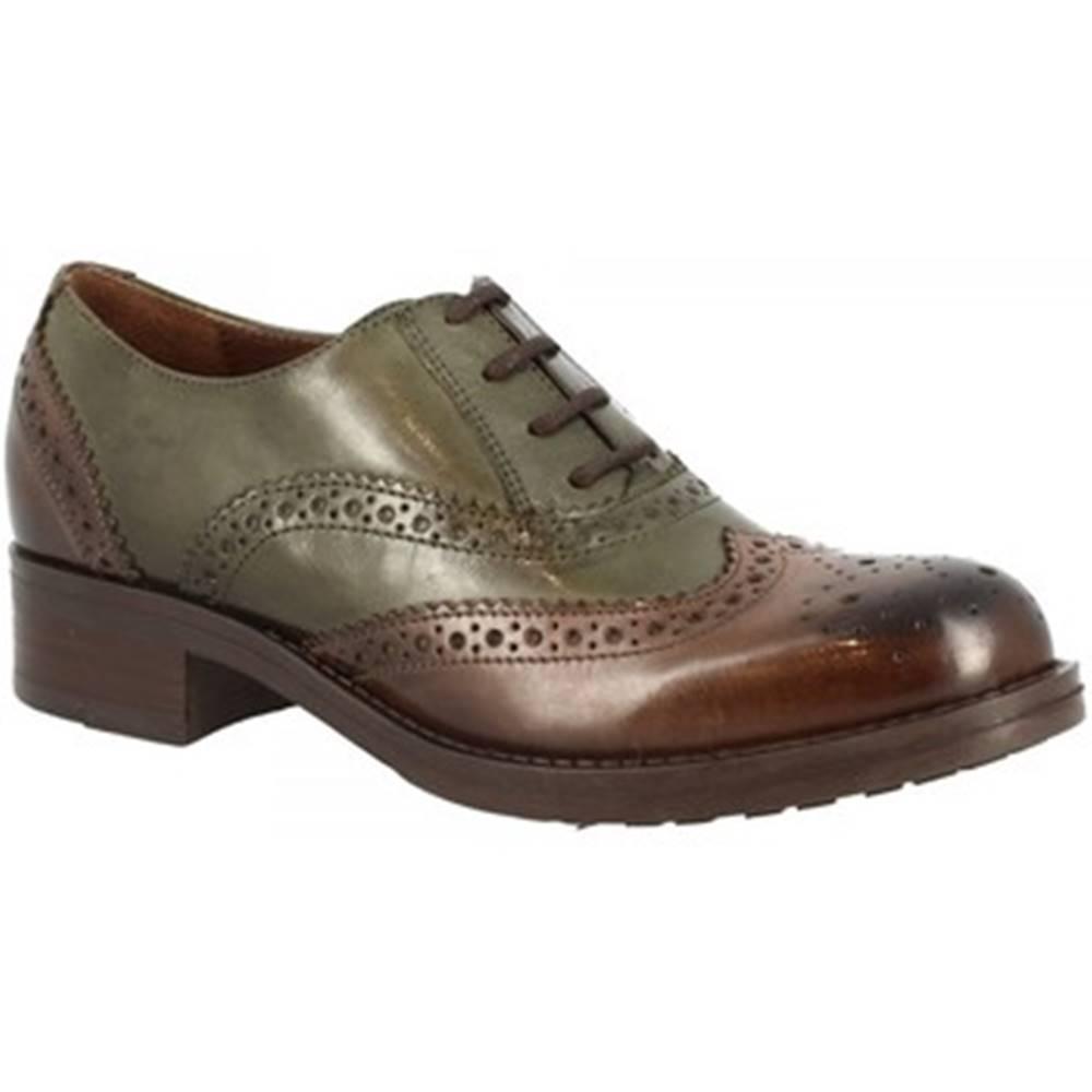 Leonardo Shoes Richelieu  D08913LIA5. TQ02 TEQUILA EBANO VERDE