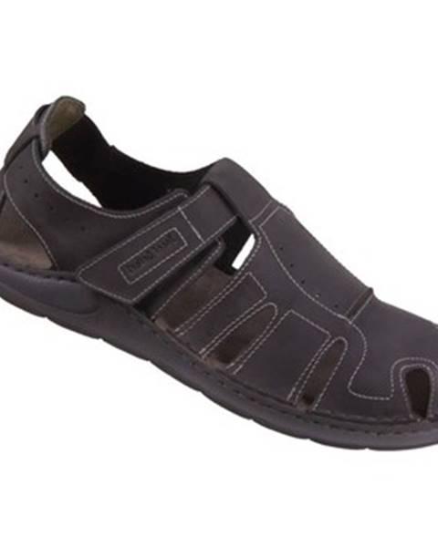 Čierne športové sandále Josef Seibel