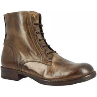 Polokozačky Leonardo Shoes  D414 RAG MO
