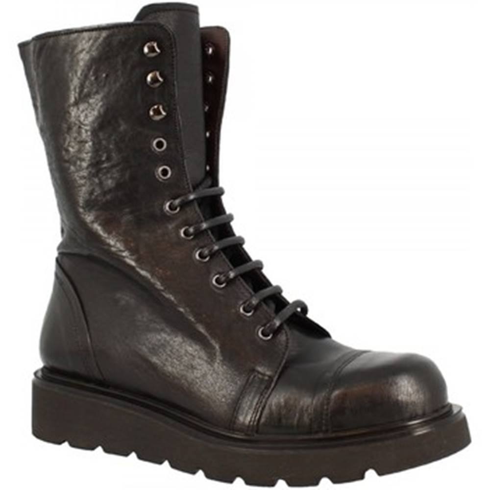 Leonardo Shoes Čižmy do mesta  D858_6 PE MONTONE NERO