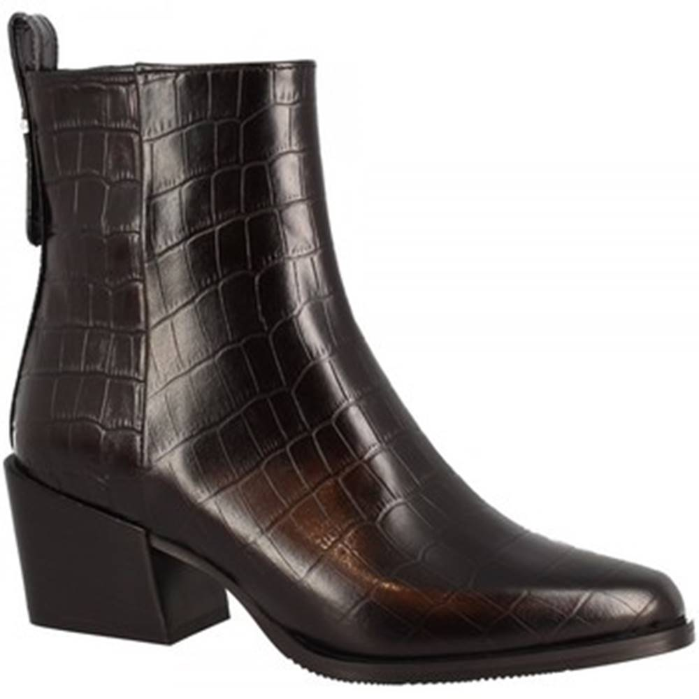 Leonardo Shoes Polokozačky Leonardo Shoes  F02 COCCO NERO MONTERREY