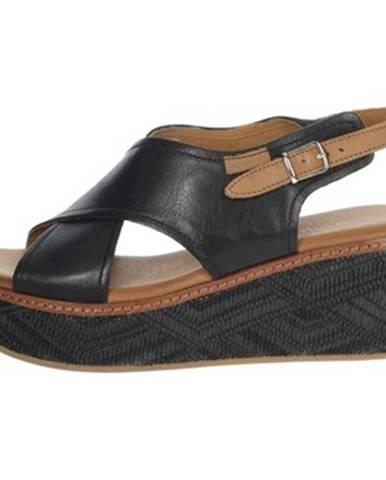 Čierne sandále Carmela