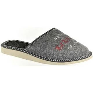 Papuče  Dámske sivé papuče BABIČKA