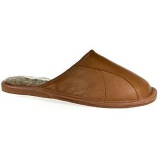 Papuče  Pánske hnedé papuče BOB