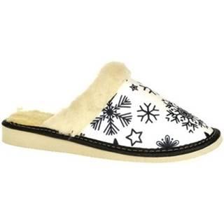 Papuče John-C  Dámske biele papuče LUNA