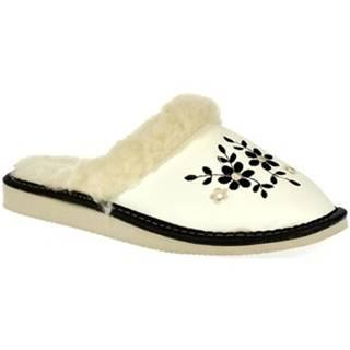 Papuče  Dámske biele papuče MALVINA